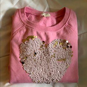 Girls J. Crew scoop neck sweatshirt